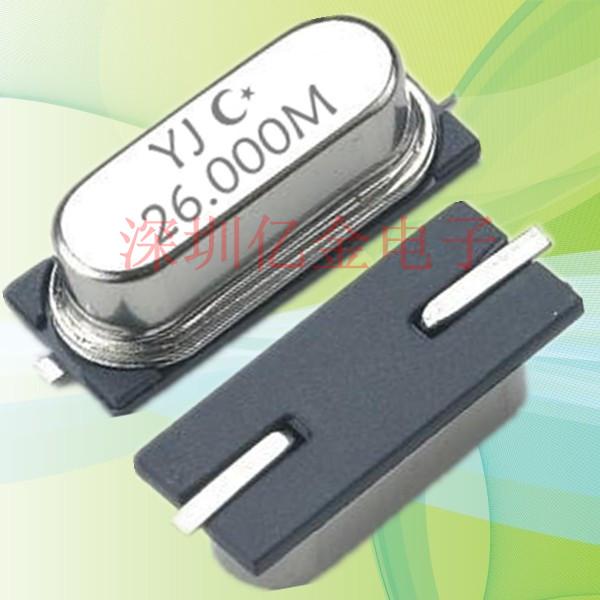 贴片晶振,石英晶振,YJ-49SMD晶振