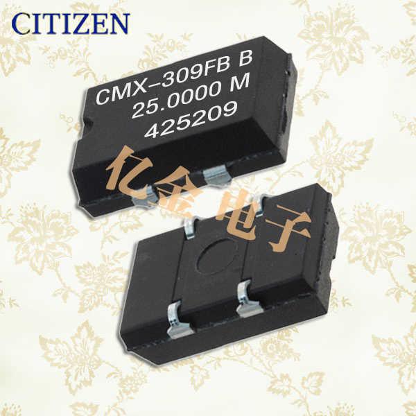 西铁城晶振,贴片晶振,CMX-309晶振