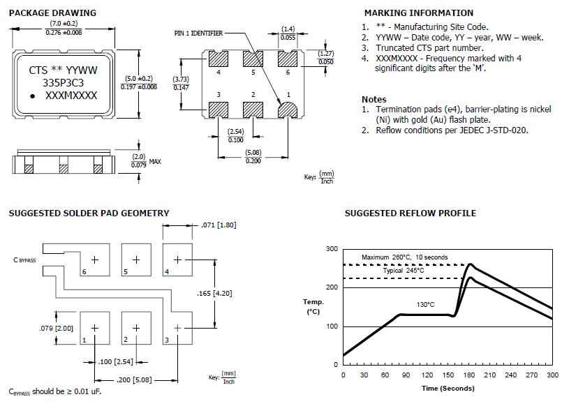CTS晶振,压控晶振,335晶振,差分石英晶体振荡器