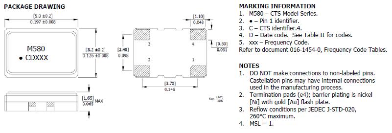 美国西迪斯晶振,压控温补晶体振荡器,580晶振,581晶振